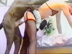 Slime girl fucked by great dane