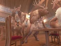 Asi se divierten los renos